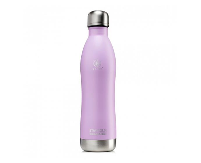 """**Gaiam Stay Cold Insulated Water Bottle, $22.99 at [Priceline](https://www.priceline.com.au/diet-and-nutrition/sports-and-nutrition/water-bottles-and-filters/gaiam-stay-cold-insulated-water-bottle-lavender-500-ml