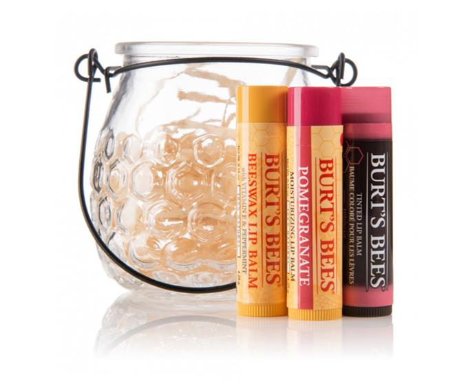 """**Burt's Bees Treat Pot, $14.99 at [Priceline](https://www.priceline.com.au/burts-bees-treat-pot-4-pack