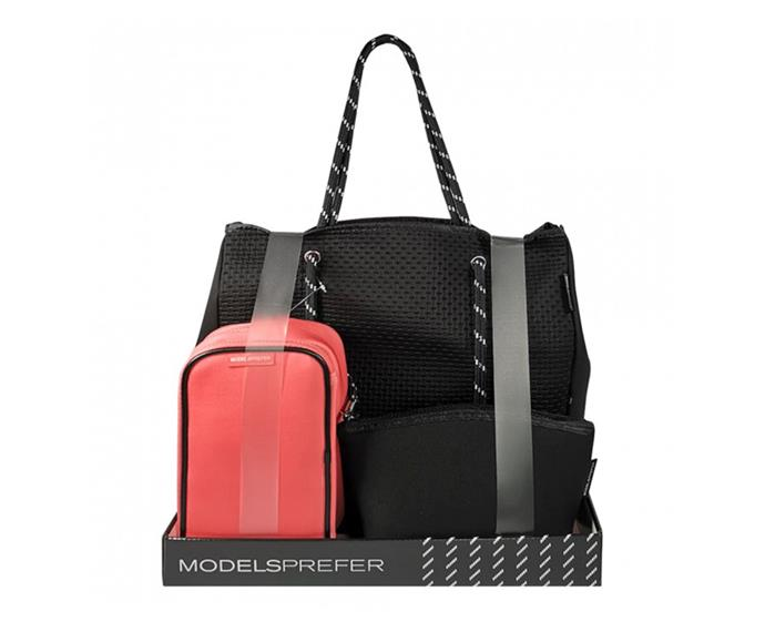 """**Models Prefer Neoprene Tote Bag Set, $39.99 at [Priceline](https://www.priceline.com.au/models-prefer-neoprene-tote-bag-set-3-piece