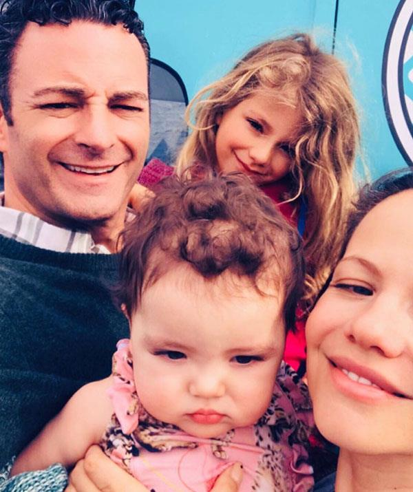Tammin with husband Sean and children Phoenis and Lennon.