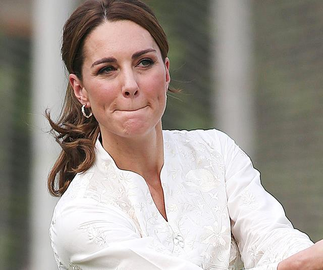 Turns out Kate has another hidden talent - tennis!