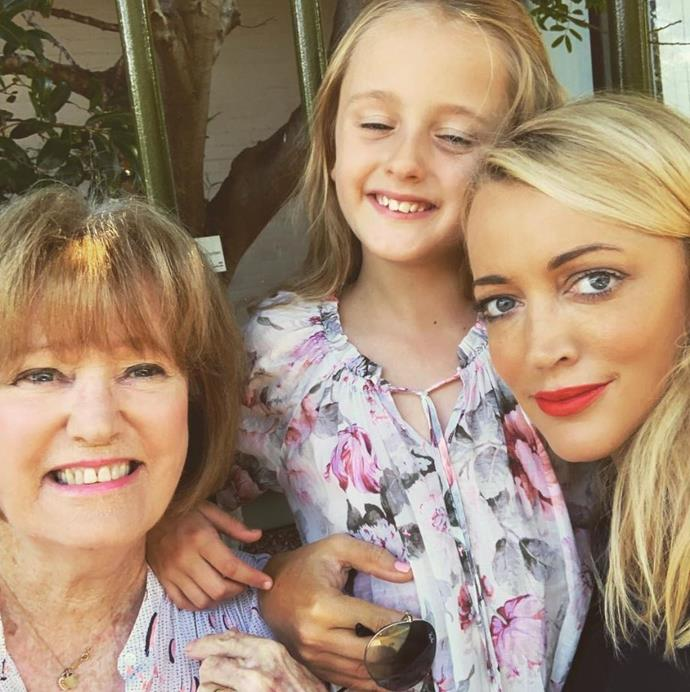 Three generations of gorgeous ladies: Jackie shared this snap of herself, Kitty and her mum.