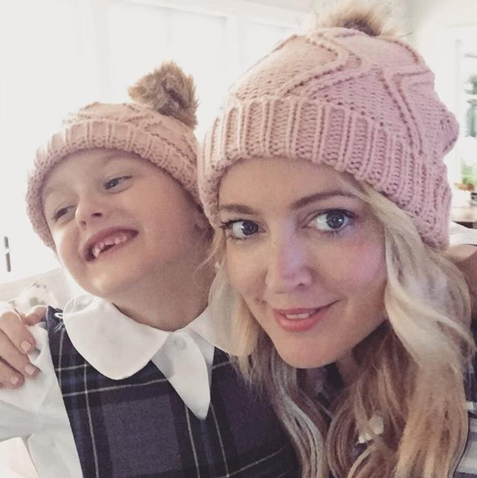 Especially with these pink beanies!