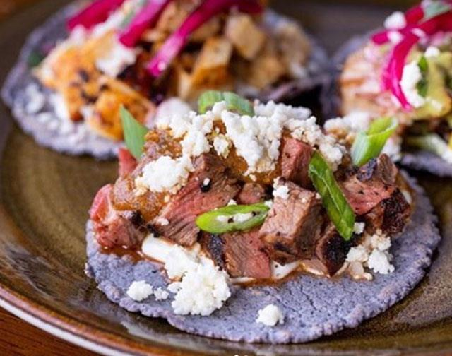 If you can, be in LA for Taco Tuesday - you'll never taste Mexican like it, outside of Mexico. These $3 tacos were served up with flair at Veranda restaurant and Hotel Figueroa in LA's Downtown.