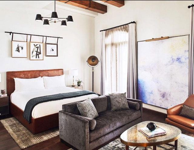 The Hotel Figueroa rooms all pay decor tribute to LA's Spanish colonial past.