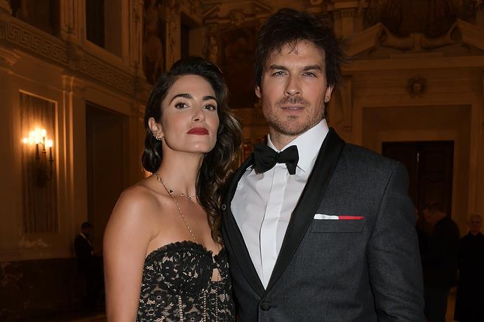 Ian with his wife, Nikki Reed.