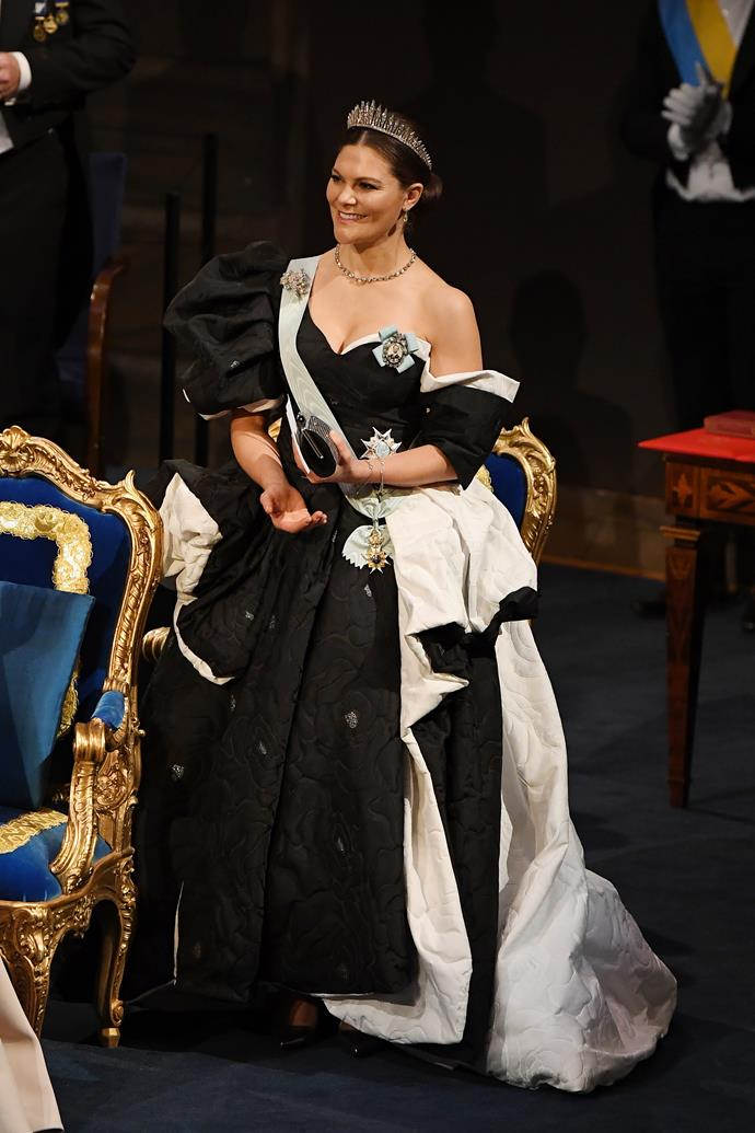The Swedish royal looked heavenly in this striking ensemble.