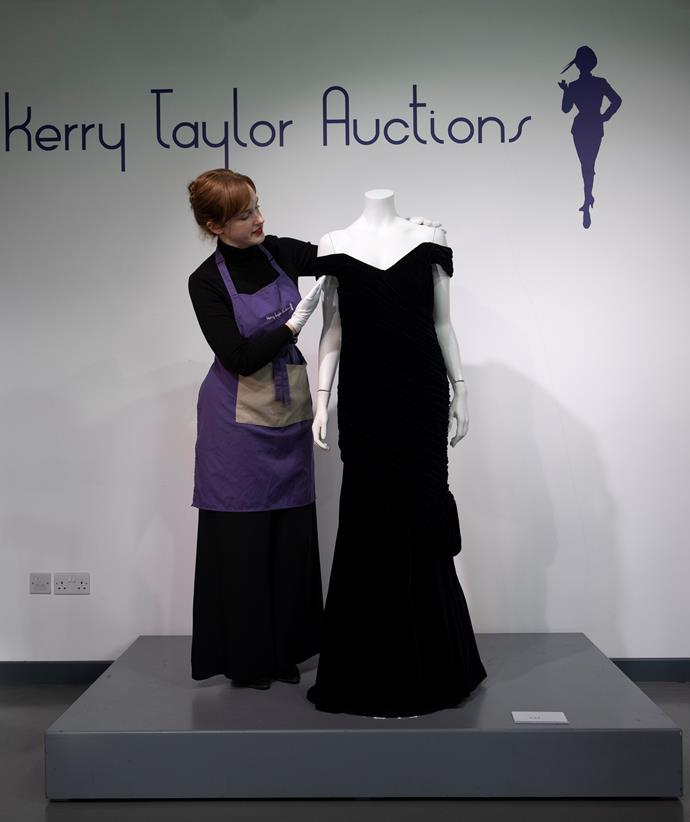 Diana's dress failed to sell at auction.