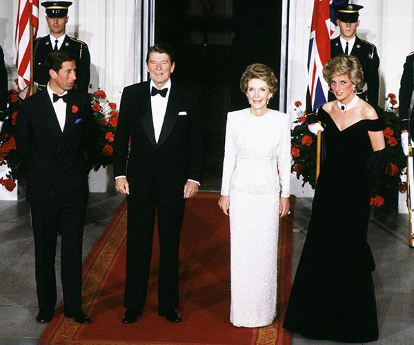 Princess Diana wore the gown when she visited the then US President and First Lady Ronald and Nancy Regan at the White House with Prince Charles.