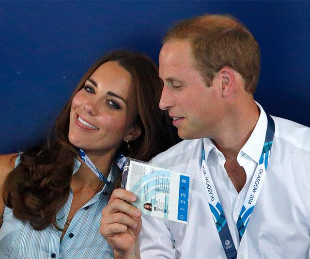 At the 2014 Commonwealth Games in Glasgow, Kate and Wills had fun together in the stands.