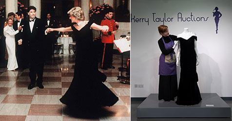 Princess Diana's iconic 'John Travolta dress' fails to sell at charity auction | Australian Women's Weekly