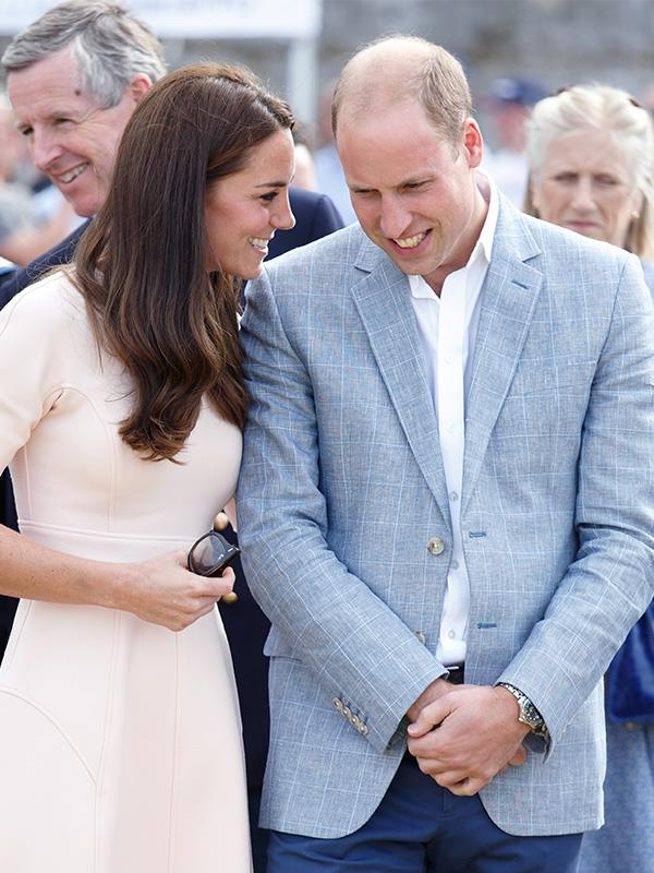 """We wish we knew what Kate had whispered to Wills here! <br><br> **[READ NEXT: Prince Harry and Duchess Meghan's best PDA moments](https://www.nowtolove.com.au/royals/british-royal-family/prince-harry-meghan-markle-pda-58437