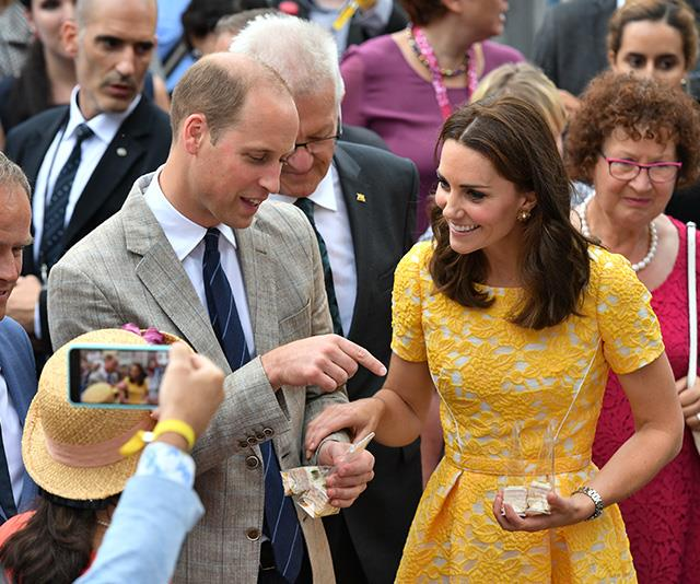 Even surrounded by cameras and royal fans, Kate and Wills still appeared to be in their own little world.