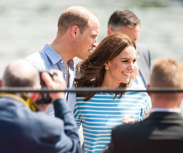 The couple are famously big fans of sailing, and always seem at home together on the water.