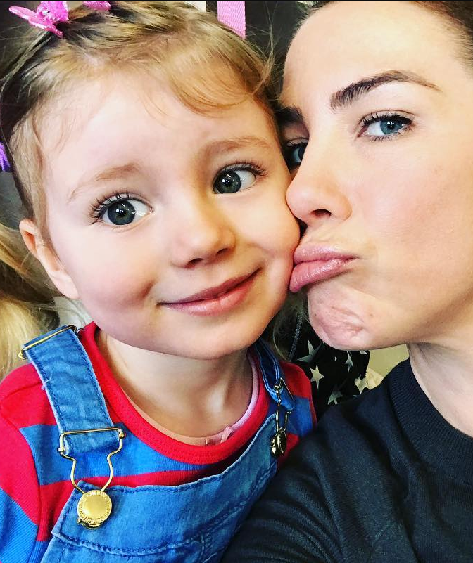 Kate Ritchie with her daughter Mae Webb.