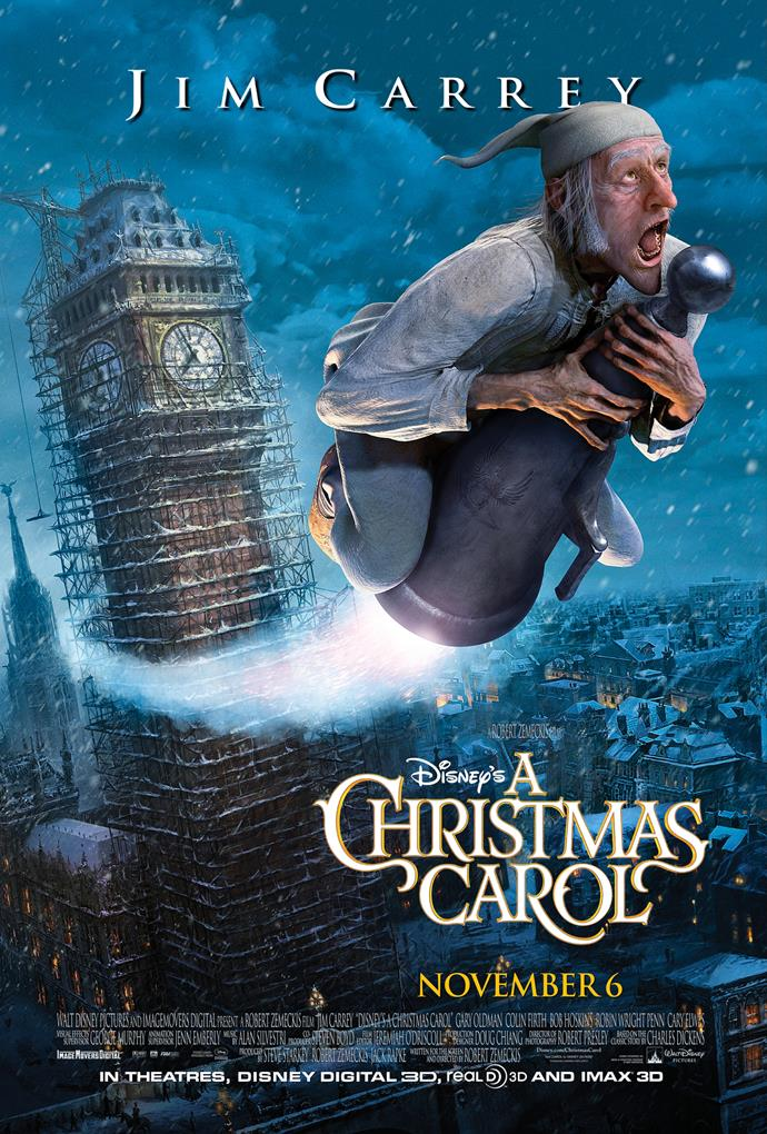 **Disney's A Christmas Carol (2009)** <br><br> Telling the iconic story of Ebenezer Scrooge (Jim Carrey) and the three spirits he encounters on Christmas Eve, who show him the folly of his ways.