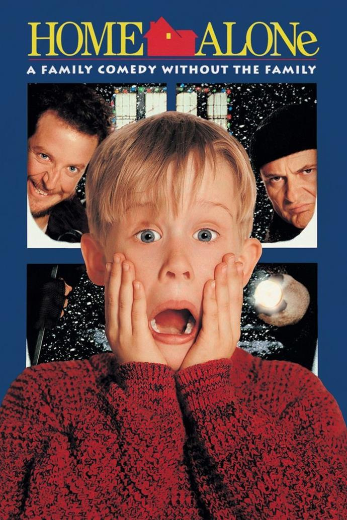 **Home Alone (1990)** <br><br> As the McCallister family take off for Paris for the holiday season, they accidentally leave their son Kevin (Macaulay Culkin) at home alone at Christmas. While he's left behind, the house is targeted by robbers Harry Lyme (Joe Pesci) and Marv Merchants (Daniel Stern) and Kevin is left to protect it.