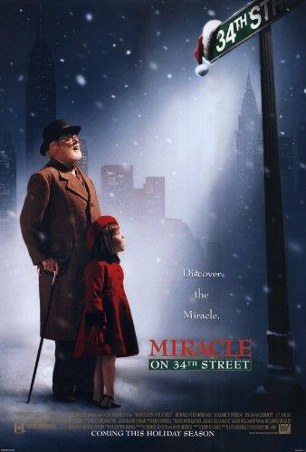 **Miracle on 34th Street (1994)** <br><br> Cole's Department Store's special events director Dorey Walker (Elizabeth Perkins) gets more than she bargains for when she hires the store's Santa Claus (Richard Attenborough) and he turns out to be the real thing. With the help of her daughter Susan (Mara Wilson) and boyfriend Bryan Bedford (Dylan McDermott) she begins to see the magic of Christmas.