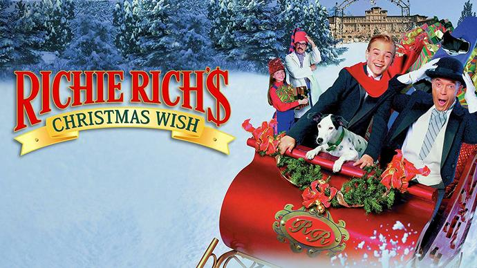 **Richie Rich's Christmas Wish (1998)** <br><br> A sequel to the 1994 film *Richie Rich,* the world's richest kid is looking forward to celebrating Christmas Eve with his friends. The plot is similar to the story of *It's A Wonderful Life.*