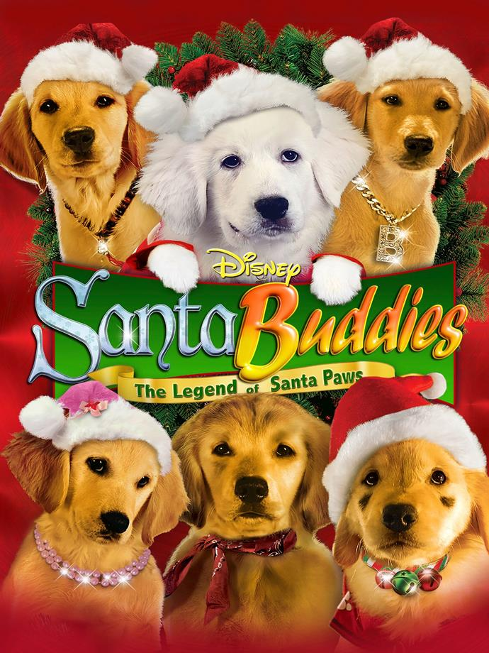 **Santa Buddies: The Legend of Santa Paws (2009)** <br><br> Puppy Paws, the fun-loving son of Santa Paws gets tired of the North Pole. He finds Budderball on Santa's naughty list and figures he's just the dog to show him how to be an ordinary pup.