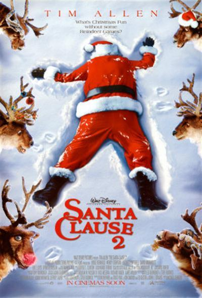 **The Santa Clause 2 (2002)** <br><br> Scott Calvin a.k.a. Santa Claus finds himself in strife when his son makes the naughty list AND he has to find his Mrs. Claus.