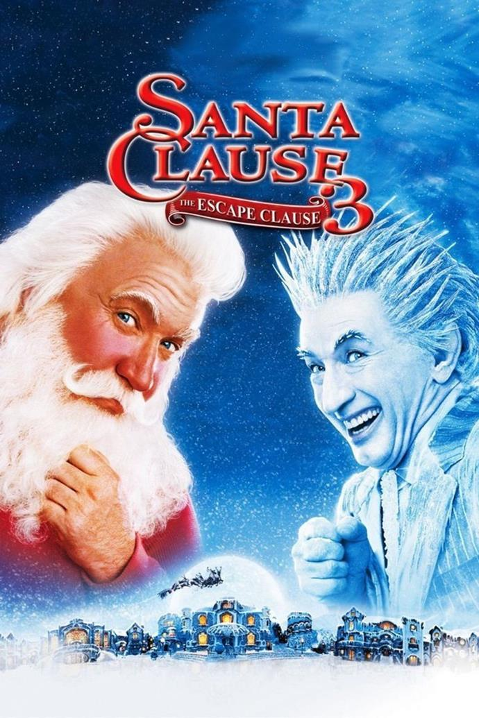 **The Santa Clause 3: The Escape Clause (2006)** <br><br> The evil Jack Frost (Martin Short) wants to take over Christmas and launches a plan to sabotage Santa's toy factory.