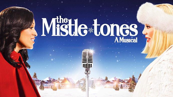 **The Mistle Tones: A Musical (2012)** <br><br> Tia Mowry and Tori Spelling star in this musical holiday movie about two rival musical groups in the holiday season.