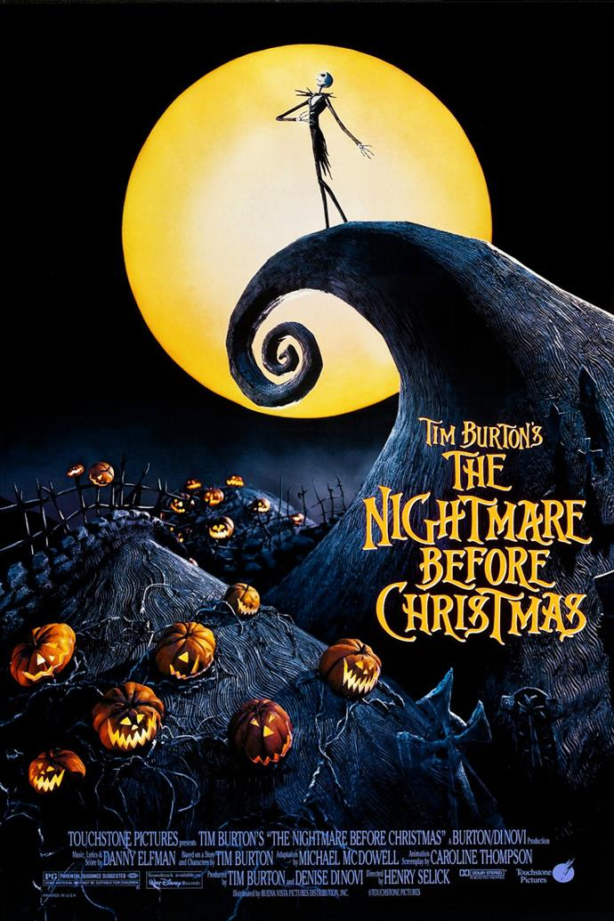 **The Nightmare Before Christmas (1993)** <br><br> The King of Halloween Town Jack Skellington is enchanted by Christmas Town and decides to abduct Santa Claus.