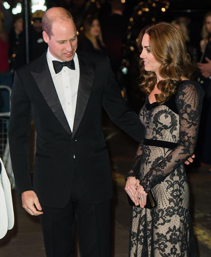 The Duke and Duchess were the image of glamour as they arrived at the Royal Variety Performance.
