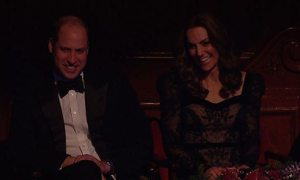 The royals were spotted laughing out loud to a particularly funny parenting joke made by comedian Kerry Godliman.