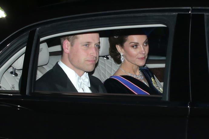 Duchess Catherine was the image of glamour as she arrived at the reception.