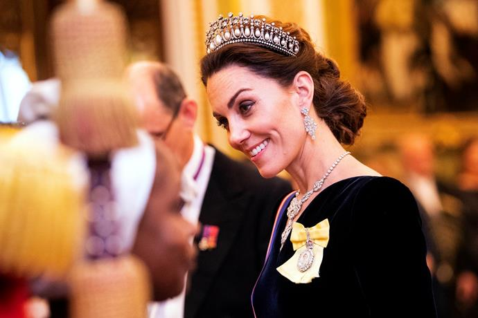 Kate was glowing in the Cambridge Lovers Knot tiara.
