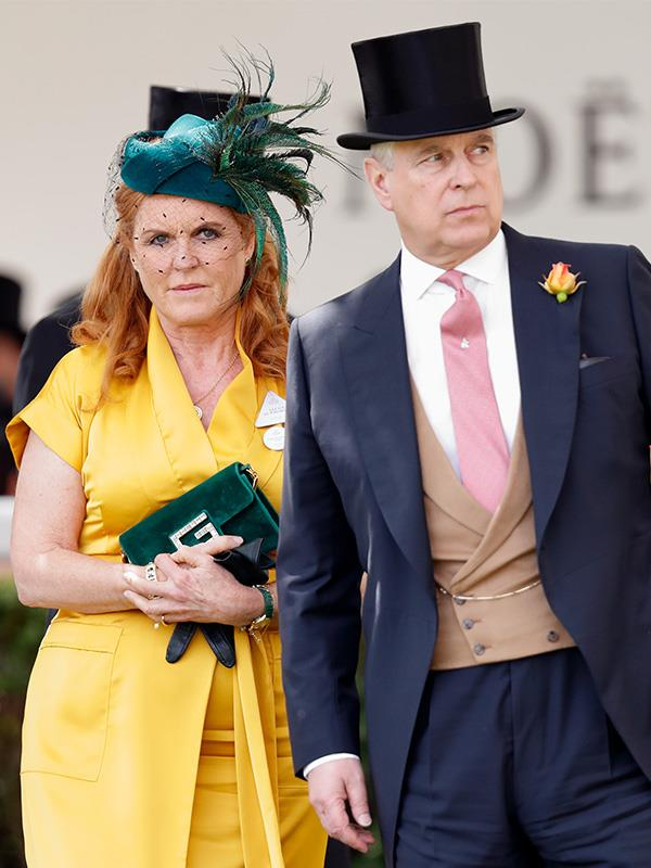 Sarah and Andrew pictured together at Royal Ascot in June earlier this year.