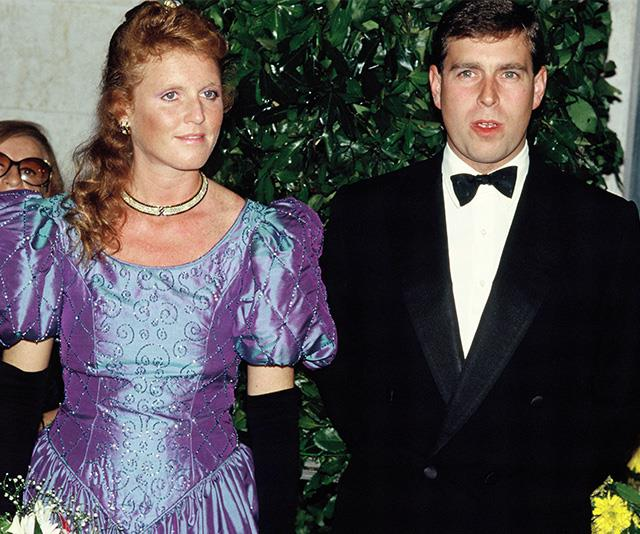 The Duke and Duchess of York pictured together in 1990.