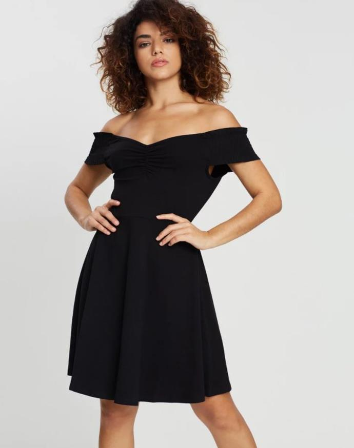 "Or forgo the velvet but go full 80s in this DP Petite sweetheart dress, $44.95. [Buy it online via The Iconic here](https://www.theiconic.com.au/sweetheart-dress-881378.html|target=""_blank""