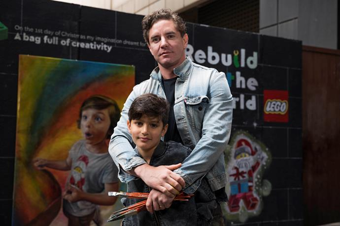Vincent's son Luca was adamant he work with LEGO on the project.