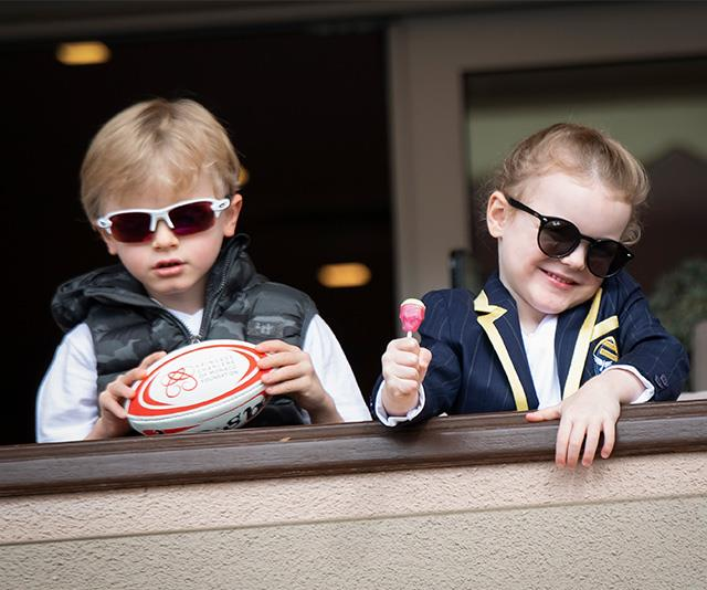 The Monaco royal twins Gabriella and Jacques look super cool in their fun outfits!