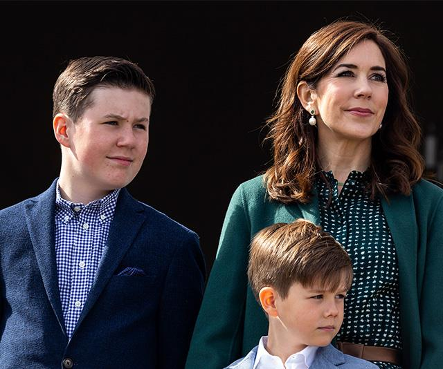 Princess Mary with her two boys, Prince Christian and Prince Vincent.