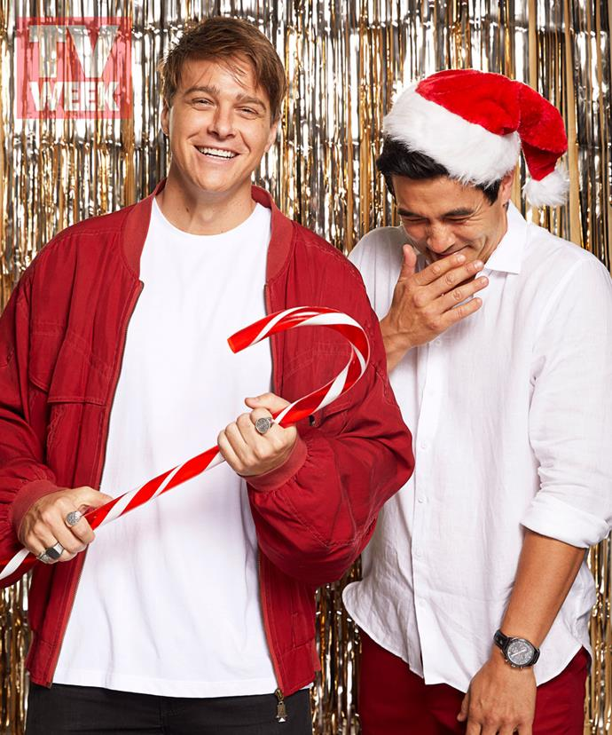 """**Tim Franklin on spending Christmas in the waves** <br><br> Forget under the mistletoe, you'll find Tim Franklin (above left) in the waves this Christmas. <br><br> If there's one thing Tim is hoping Santa delivers on Christmas Day, it's good surf… and maybe a few gifts he can take out in the water.  <br><br> The Gold Coast-born actor is returning to sunny Queensland for the festive season to spend time relaxing by the beach with his family after what he calls a """"big year.""""  <br><br> """"I'm keeping it really low-key,"""" Tim, 29, tells TV WEEK. """"Couple of beers by the barbecue with my dad, waking up, praying for good surf – and, hopefully, trying out new presents.  <br><br> """"Last year, my mum got me a hand board [for bodysurfing]. I always thought they looked silly, but it was the greatest thing ever."""" <br><br> Christmas Day will see Tim's whole family hit the surf.  <br><br> """"Our little tradition is to go for a surf with Christmas hats on,"""" he says.  <br><br> """"Everyone's in there, no matter their level. Even my older sister is out there, just yelling and giving it a go."""""""