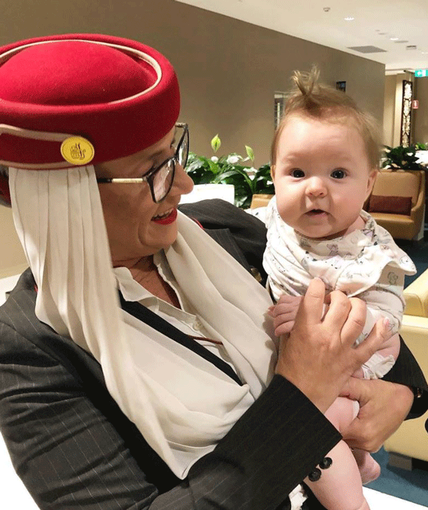 An Emirates flight attendant went above and beyond to help Fifi out on the flight.