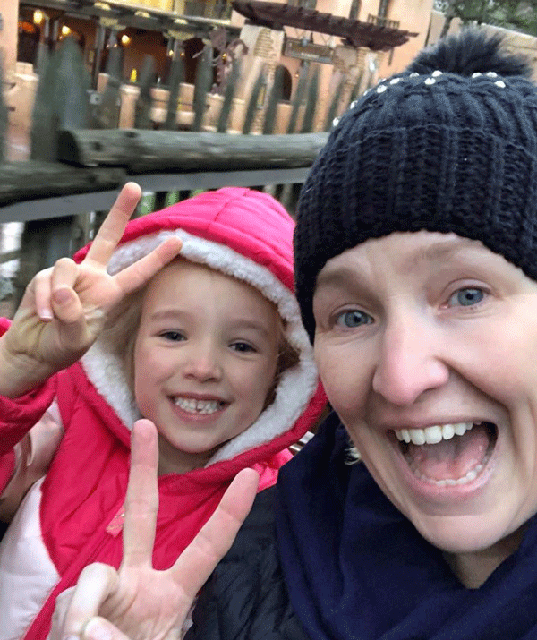 """""""We just did Big Thunder Mountain, this is my favourite roller coaster with the perfect amount of thrill for a scaredy-cat like me,"""" Fifi captioned this image."""