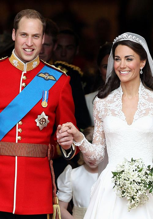 **April 2011: William and Kate get married** <br><br> Fit for a fairy tale, the pair married in Westminster Abbey the following year. Their nuptials, which was nothing short of a spectacle, was watched by tens of millions of people world-wide. Oh, and did we mention Kate's heavenly Sarah Burton for Alexander McQueen dress set the precedent for bridal style for the next nine years?
