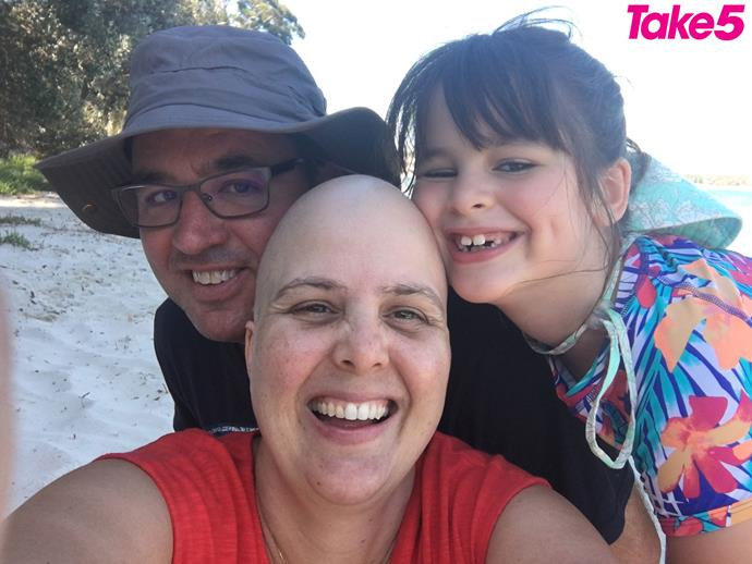 Scott, Charlotte and me during my chemo.