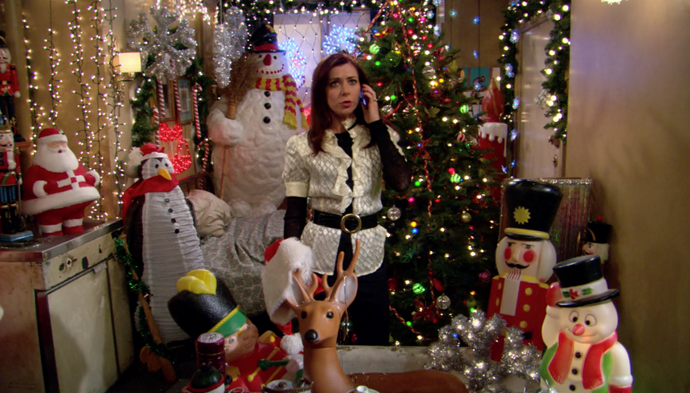 """**How I Met Your Mother (Stan)** <br><br> ***Season 2, Episode 11 – """"How Lily Stole Christmas""""*** <br><br> After returning home to reunite with her fiancé Marshall, Lily discovers that Ted called her a cruel name when she left for San Francisco. <br><br> Taking Christmas hostage and bringing all the decorations to her daggy apartment, Lily refuses to celebrate with the boys unless he apologises."""