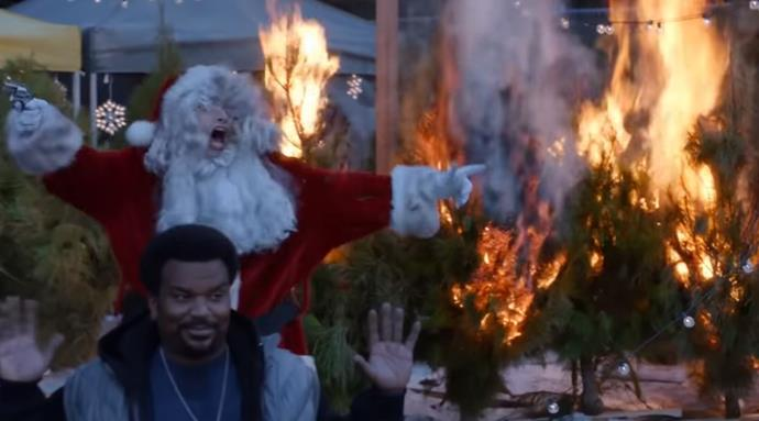 """**Brooklyn Nine Nine (Netflix)** <br><br> ***Season 2, Episode 10 – """"The Pontiac Bandit Returns""""*** <br><br> This festive episode kicks off with an epic cold open, as Rosa and Jake arrest the Pontiac Bandit AKA Doug Judy and set a Christmas tree sale ablaze. The episode sees the beginning of Jake and Doug's hilarious friendship kick off, after first meeting in season one.  <br><br> The episode also features classic Gina and Boyle shenanigans, with the pair's parents revealing they're in love and moving in together.  <br><br> Plus, Captain Holt invites everyone to a Christmas celebration and finds out (through Amy's gift) that he incorrectly """"solved"""" an old case With Amy's help, he sets out to fix his mistake."""