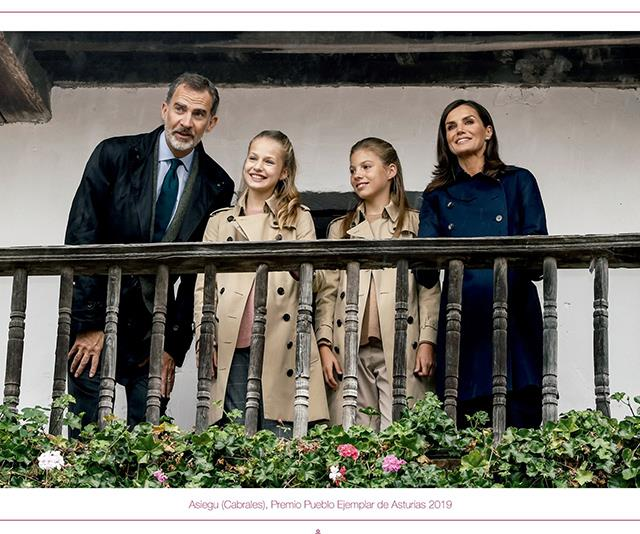 The Spanish royals shared this beautiful image as their 2019 Christmas card photo.