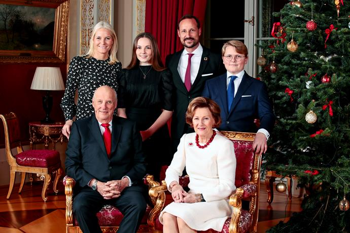 Norway's royal family shared a particularly festive image.
