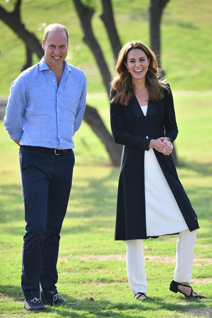 """While on her royal tour of Pakistan in October 2019, the Duchess donned an array of [stunning traditional outfits](https://www.nowtolove.com.au/royals/british-royal-family/kate-middleton-pakistan-fashion-59778