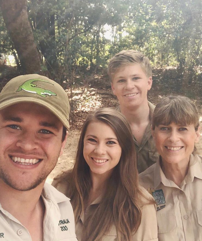Bindi and Robert Irwin are excited for their mum and they plan to visit regularly .