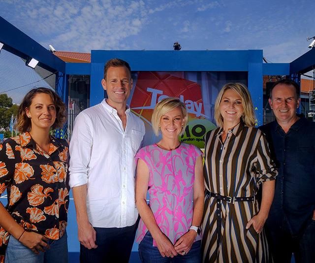 The axed *Today* 2019 team - Brooke Honey, Tom Steinfort, Deb Knight, Georgie Gardner and Tony Jones.